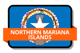Northern Mariana Islands State Flags Stickers