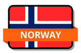 Norway State Flags Stickers