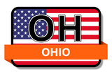 Ohio State Flags Stickers