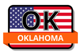 Oklahoma State Flags Stickers