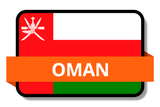 Oman State Flags Stickers