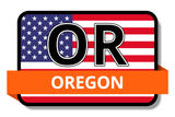 Oregon State Flags Stickers