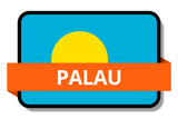 Palau State Flags Stickers
