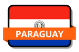 Paraguay State Flags Stickers