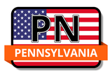 Pennsylvania State Flags Stickers