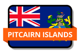 Pitcairn Islands State Flags Stickers