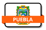 Puebla State Flags Stickers