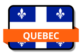 Quebec City Names Stickers