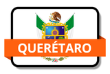 Querétaro State Flags Stickers