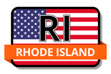 Rhode Island State Flags Stickers