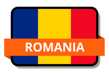 Romania State Flags Stickers