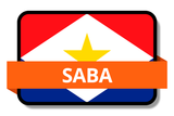 Saba State Flags Stickers
