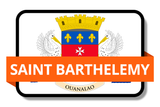 Saint Barthelemy State Flags Stickers