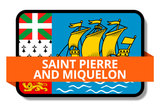 Saint Pierre and Miquelon State Flags Stickers
