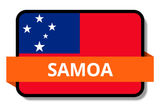 Samoa State Flags Stickers