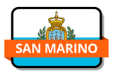 San Marino State Flags Stickers