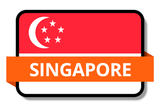 Singapore State Flags Stickers