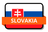 Slovakia State Flags Stickers