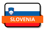Slovenia State Flags Stickers
