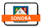 Sonora State Flags Stickers