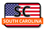 South Carolina State Flags Stickers