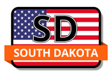 South Dakota State Flags Stickers