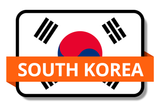 South Korea State Flags Stickers