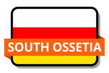 South Ossetia State Flags Stickers