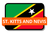 St. Kitts and Nevis State Flags Stickers