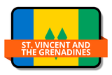 St. Vincent and The Grenadines State Flags Stickers