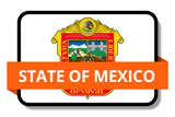 State of Mexico State Flags Stickers