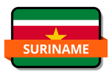 Suriname State Flags Stickers