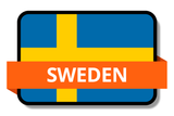 Sweden State Flags Stickers