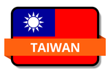 Taiwan State Flags Stickers