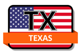 Texas State Flags Stickers
