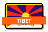 Tibet State Flags Stickers