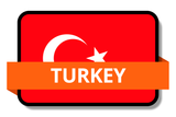 Turkey State Flags Stickers