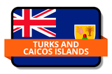 Turks and Caicos Islands State Flags Stickers