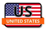 US States Flags Stickers
