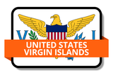 United States Virgin Islands State Flags Stickers