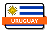 Uruguay State Flags Stickers