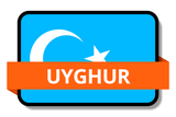 Uyghur State Flags Stickers