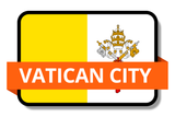 Vatican State Flags Stickers