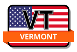 Vermont State Flags Stickers