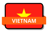 Vietnam State Flags Stickers