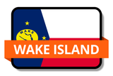 Wake Island State Flags Stickers