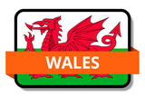 Wales State Flags Stickers