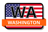 Washington State Flags Stickers