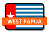 West Papua State Flags Stickers