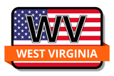 West Virginia State Flags Stickers